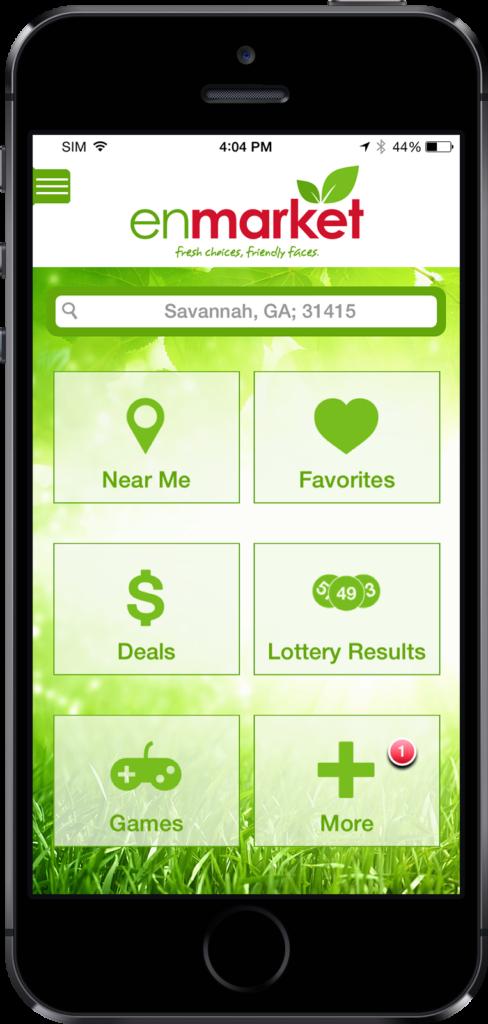 Enmarket iPhone mobile app