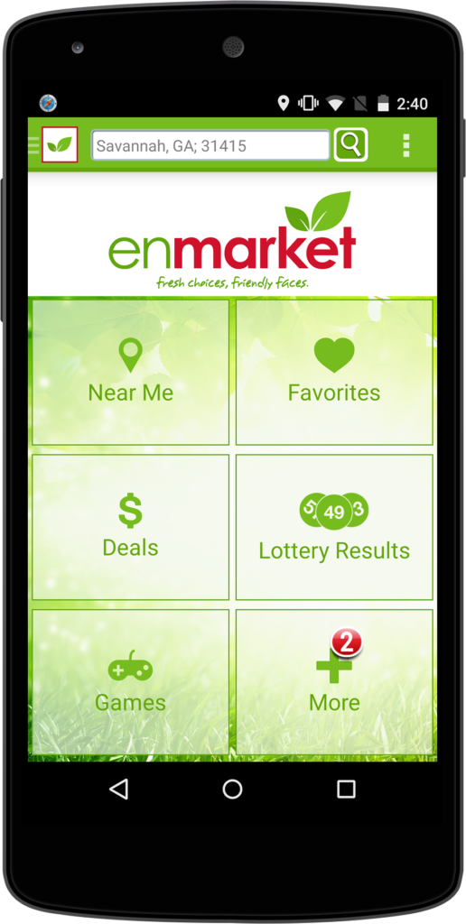 Enmarket Android mobile app