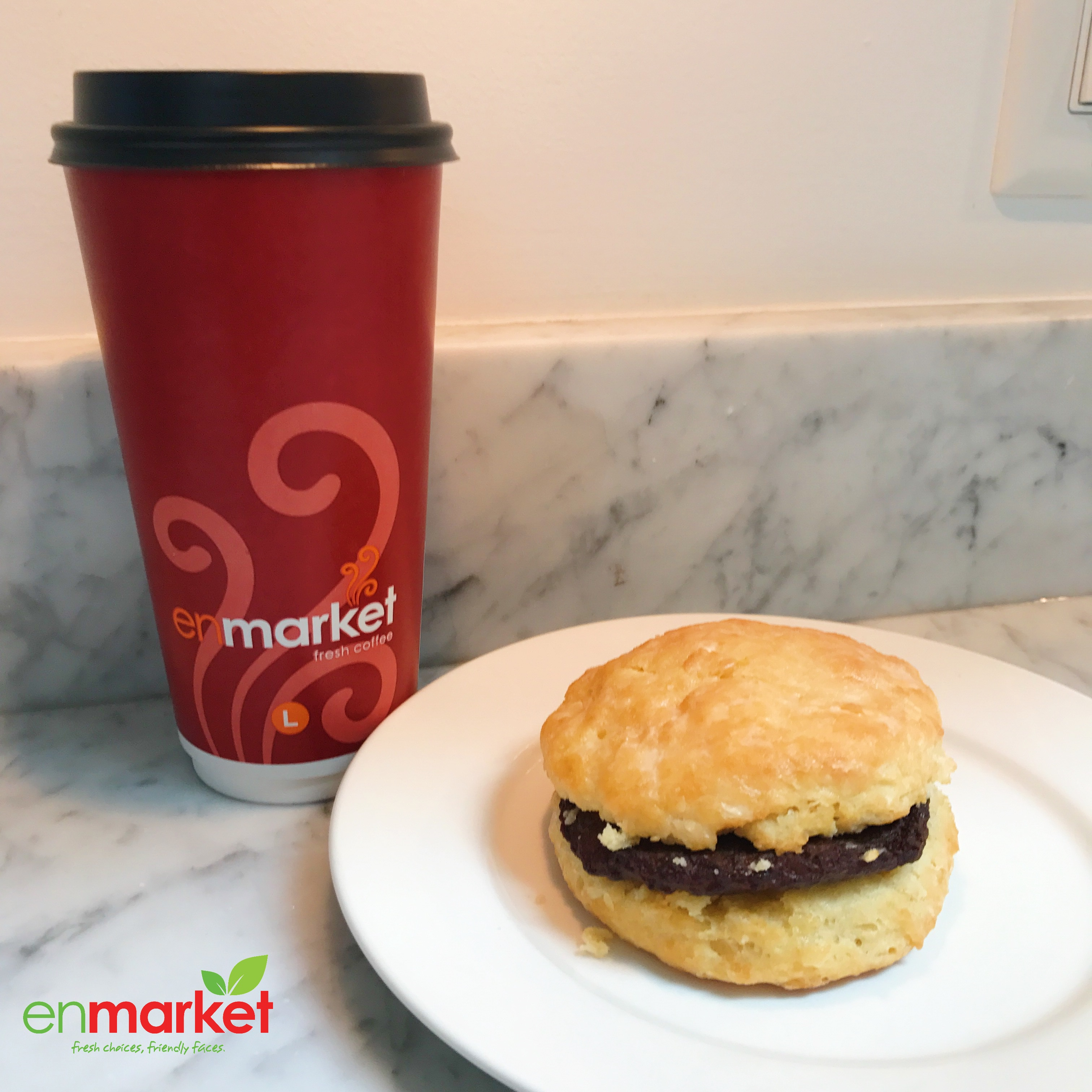 Enmarket Rainforest Coffee and Fresh Made Biscuit