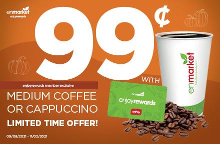 Fall 2021 Promo Medium Coffee or Cappuccino